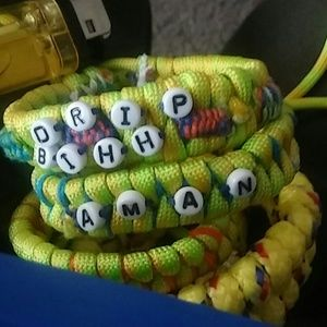 Paracord bracelets. Personalized with name!